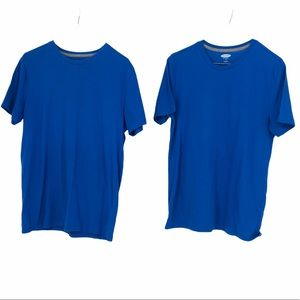 Old Navy matching set of 2 solid blue soft t shirt